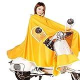 (ディフレコ) Difreco 《 雨の日 でも これで 快適 》 全身 すっぽり で 濡れない バイク 原付 自転車 用 ポンチョ レインコート (イエロー)