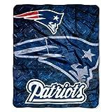 NFL New England Patriots Raschel Plush Throw Blanket, Roll Out Design
