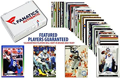 Dallas Cowboys Team Trading Card Block/50 Card Lot - Fanatics Authentic Certified - Football Team Sets