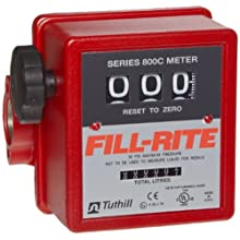 "Fill-Rite 807C-1-T 1"" Inlet Gravity Flow Meter 20Gpm"