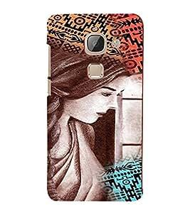 PrintVisa Stylish Cool Girl Colorful 3D Hard Polycarbonate Designer Back Case Cover for LeEco Le 2 Pro