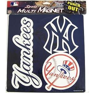 New York Yankees 3 Pack Magnet Set