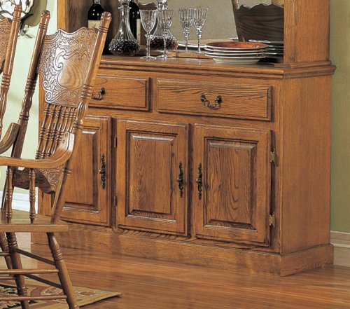 Cheap Coaster Mackinaw Traditional Buffet with Doors and Drawers in Oak (5327BN)
