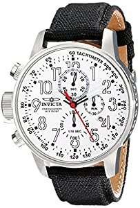 """Invicta Men's 1514 I """"Force Collection"""" Stainless Steel Cloth Strap Watch"""