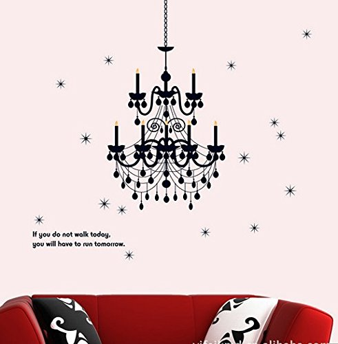 Removable Living Room Television Background Environmental Pvc Wall Stickers Crystal Chandelier front-268904