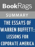 img - for The Essays of Warren Buffett: Lessons for Corporate America by Warren Buffett | Summary & Study Guide book / textbook / text book