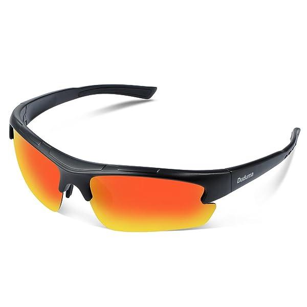 3c8220efb6c Duduma Polarized Designer Fashion Sports Sunglasses for Baseball Cycling Fishing  Golf Tr62 Superlight Frame (Black ...