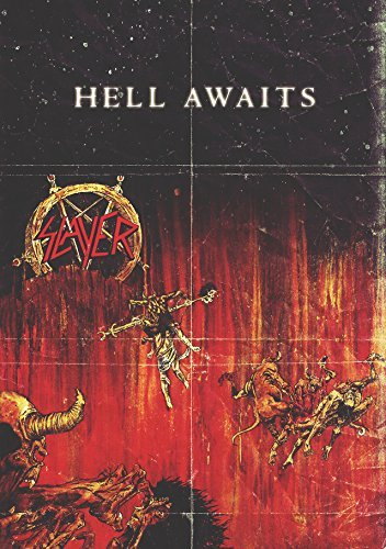 Old Tin Sign poster(8x12inch)Slayer Hell Awaits Retro Music Poster