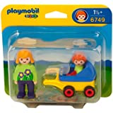 Playmobil 6749 123 Monther with Baby and Stroller