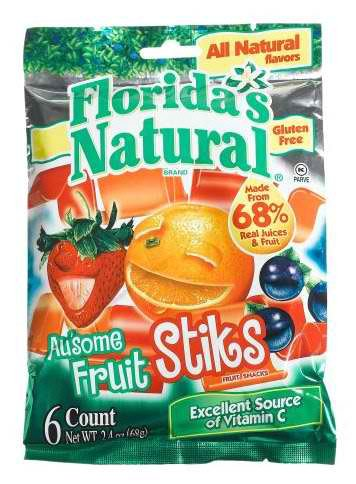 3-pack Healthy Treats Stiks 68%real Juices & Fruits (Florida Juice compare prices)