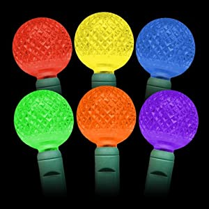 colored g25 led christmas lights 25ft g25 multi colored globe light