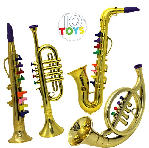 Toy Musical Horns : Instrument musical play set clarinet saxophone trumpet