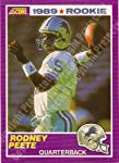 1989 Score #431 Rodney Peete Detroil Lions