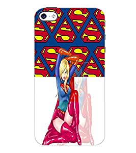 PrintDhaba Superwoman D-4472 Back Case Cover for APPLE IPHONE 4 (Multi-Coloured)