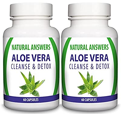 Aloe Vera Cleanse & Detox by Natural Answers - UK Manufactured High Quality Dietary Supplement - High Strength Colon Cleanser - All Natural Ingredients - Two Month Supply - Natural Detox Diet Pills- Reduces Harmful Toxins Improving Digestion & Increases E