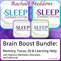 Brain Boost Bundle: Memory, Focus, IQ, Hypnosis, Meditation and Subliminal - The Sleep Learning System  by Joel Thielke Narrated by Rachael Meddows