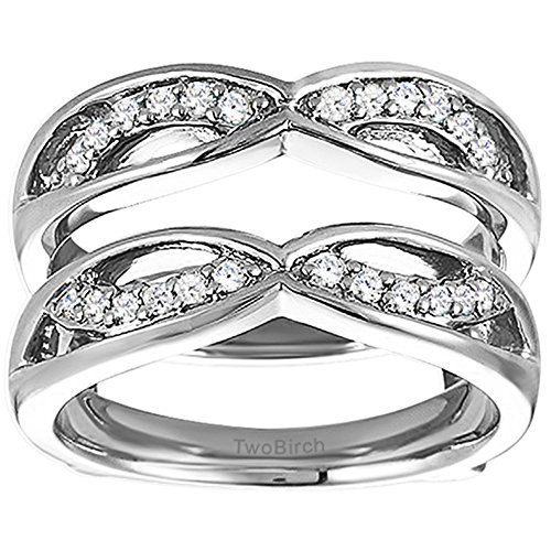 Criss Cross Anniversary Style Jacket Ring Guard