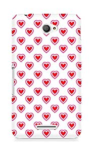 Amez designer printed 3d premium high quality back case cover for Sony Xperia E4 (Heart Pattern7)
