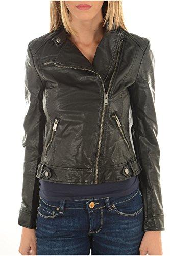 Vero Moda - VMLINA donne del rivestimento breve faux motociclista in pelle, il nero, Taglia M 40