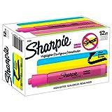 Sharpie 25009 Sanford Brands Tank Highlighters, Chisel Tip, Fluorescent Pink, 12-Count (Color: Fluorescent Pink, Tamaño: 12-Count)