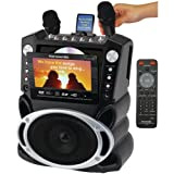 Karaoke USA Karaoke System with 7-Inch TFT Color Screen and Record Function (GF829)
