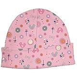 "Baby Girl's Rose ""Birds & Flowers"" Organic Cotton Baby Cap (6M)"
