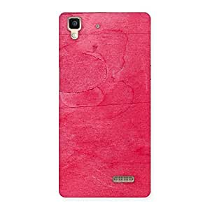 Enticing Pink Wood Work Multicolor Back Case Cover for Oppo R7
