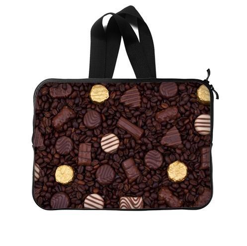 Custom Chocolates On Coffee Beans New Zip/Notebook Waterproof Handle Laptop Sleeve 15 Inch(Twin Sides)