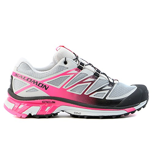 Salomon Women's XT Wings 3 W Trail Running Shoe,Pearl Grey/Hot Pink/Black,8.5 M US