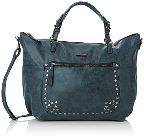 Best Mountain - Au001, Borsa A Tracolla da donna, blu (metal), unica