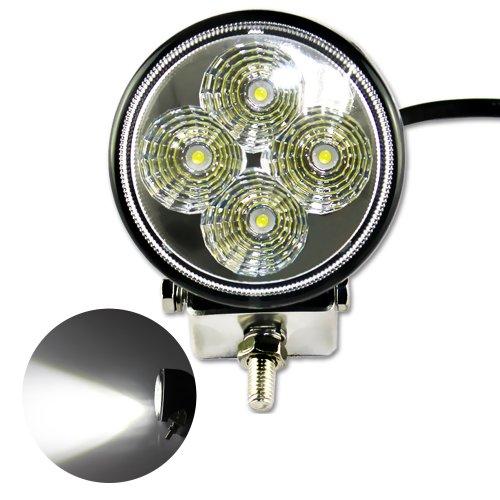 Zitrades Ls-709 12W Dc 9V-32V Round 6000K Led Work Lamp Off Road Spotlight 30 Degree Jeep Cabin/Boat/Suv/Truck/Car/Atvs Fishing Deck Driving Light 880Lumen Ip67 Waterproof
