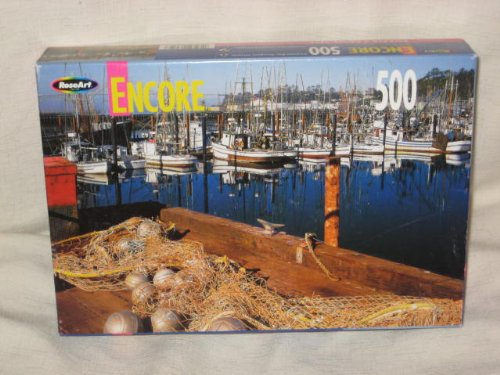 2002 RoseArt Encore - 500 Piece Jigsaw Puzzle - Yaquina Bay, Newport, Oregon