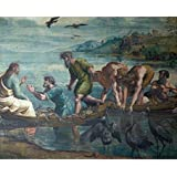 Tallenge Old Masters Collection - The Miraculous Draft Of Fishes By Raphael - A3 Size Premium Quality Rolled Poster