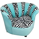 Newco Kids Sweetheart Chair Tween Zebra, Tiffany
