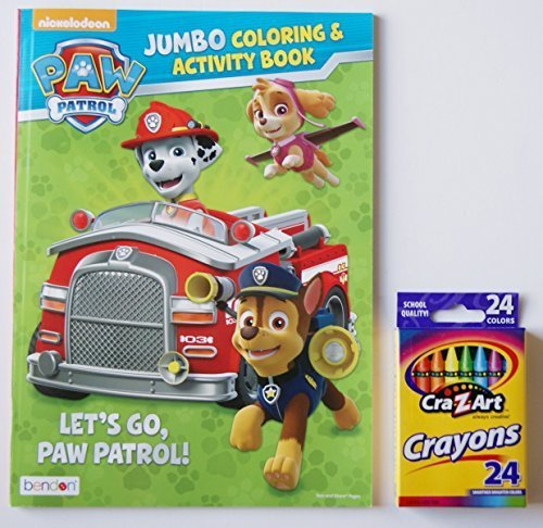 "Paw Patrol ""Let's Go Paw Patrol!"" Jumbo Coloring and Activity Book with Cra-Z-Art Crayons"