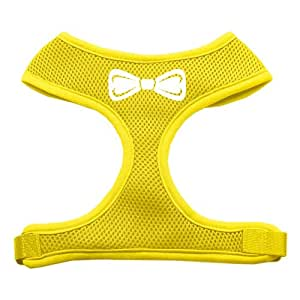 Bow Tie SPSoft Mesh Dog Harness Yellow Small