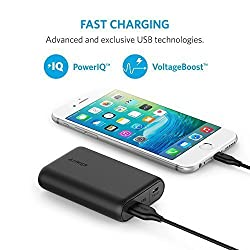 Anker PowerCore 10000 (10000mAh パナソニックセル搭載 最小最軽量* 大容量 モバイルバッテリー) iPhone / iPad / Xperia / Android各種他対応 マット仕上げ【PowerIQ & VoltageBoost搭載】*2016年1月末時点 A1263011