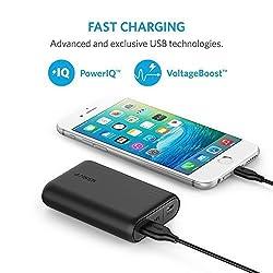 Anker PowerCore 10000 (10000mAh パナソニックセル搭載 最小最軽量* 大容量 モバイルバッテリー) iPhone / iPad / Xperia / Android各種他対応 マット仕上げ【PowerIQ & VoltageBoost搭載】*2016年1月末時点 A1263011
