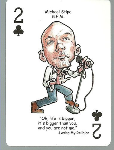 (3) Michael Stipe REM - ODDBALL Playing cards