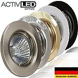 1x Deckeneinbaustrahler Deckeneinbauleuchte Einbaurahmen Einbaustrahler Einbauleuchte Einbauspot Einbauring Metall LED
