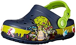 crocs TMNT II K Light-Up Clog (Infant/Toddler/Little Kid/Big Kid), Navy/Volt Green, 1 M US Infant
