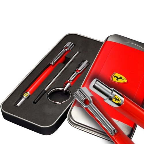 Set Ferrari Penna a Sfera e Portachiavi