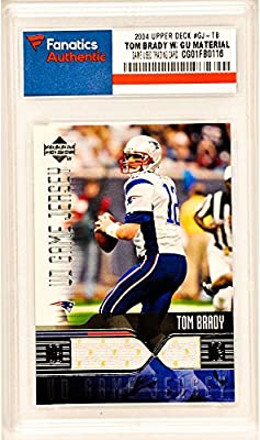 Tom Brady New England Patriots 2004 #GJ-TB Card Containing a Piece of Game Used Material - Upper Deck Certified