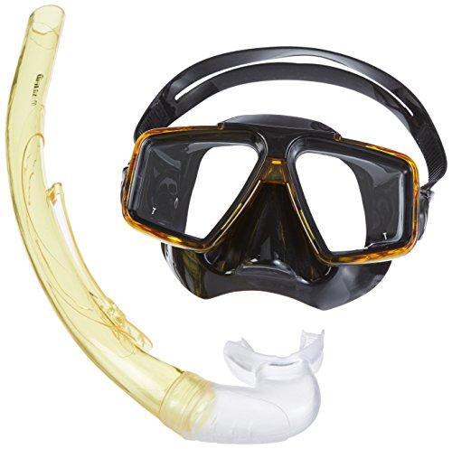 Mares Erwachsene Maske plus Schnorchel Set Starfish 12, Yellow/Black, 411740GUYLBK