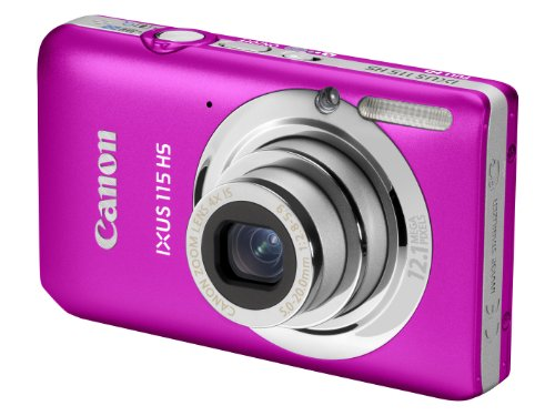 Canon IXUS 115 HS Digital Camera - Pink (12.1MP, 4x Optical Zoom) 3.0 inch LCD