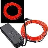 AUDEW 4M 10 colors 3V Flexible Neon EL Wire Light Dance Party Decor Light £¨Red£©