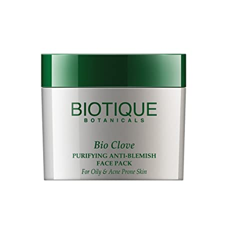 Biotique Bio Clove Purifying Anti-Blemish Face Pack For Oily Skin