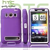 au HTC EVOケース スクリーン プロテクター付属3重構造 (WiMAX ISW11HT Screen Protector Case ) 【白×紫】