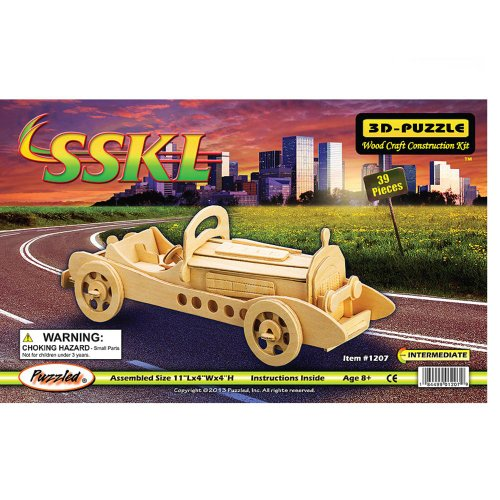Puzzled Mercedes SSKL Classic Car 3D Woodcraft Construction Kit - 1