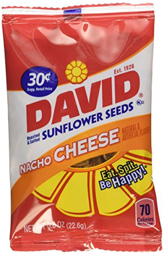 David Sunflower Seeds 36-Bags Nacho,0.8oz. by DAVID Seeds (Cheese Flavored Sunflower Seeds compare prices)